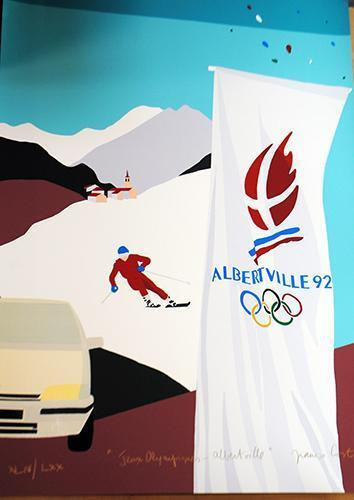 FRANCO COSTA LIMITED EDITION SERIGRAPH  NUMBERED AND SIGNED JEAUX-OLYMPIC