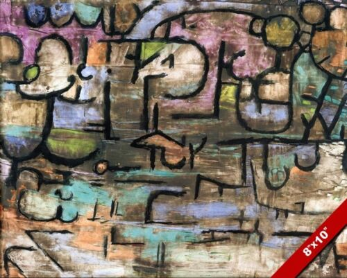 AFTER THE FLOOD PAUL KLEE PAINTING ART REAL CANVAS PRINT