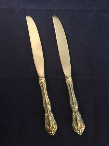 Alvin Chateau Rose Sterling Silver - Set of 2 - 8 7/8 Inch Knives - No Mongram