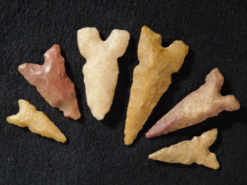 A Lot of Very Nice Ancient North African Arrowheads or Points! 7.27