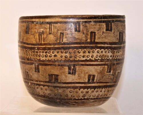 Pre-Columbian Mexico Chinesco Nayarit Bowl with Abstract Designs