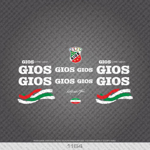 07117 Gios Evolution Bicycle Stickers Transfers Decals