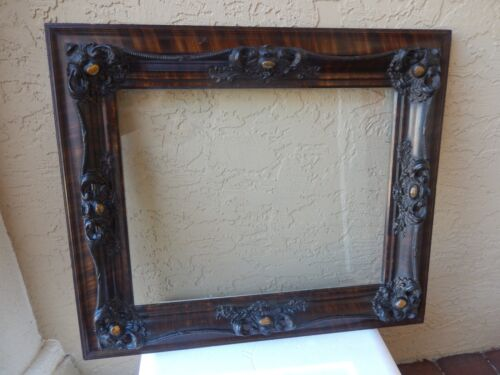 Antique turn of the century grain painted frame in pristine condition circa 1900