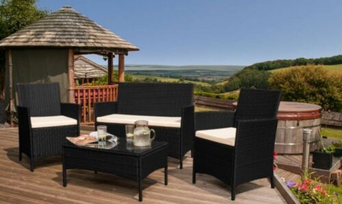 Rattan Garden Furniture Set 4 Piece chairs sofa Table Outdoor Patio Conservatory <br/> PLEASE CHECK LISTING FOR DELIVERY INFORMATION