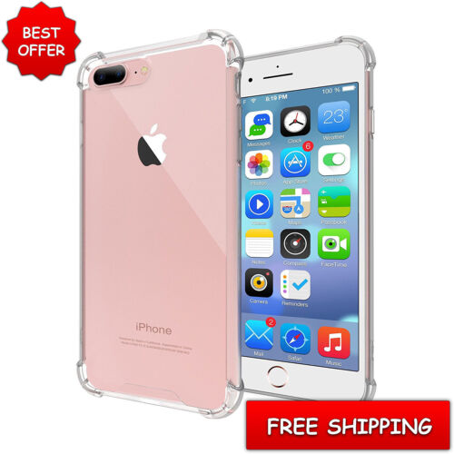 For Apple iPhone 7 Plus Case Clear Hybrid Slim Shockproof Soft TPU Bumper Cover