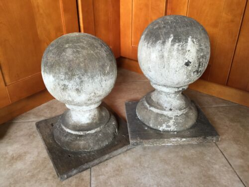Huge Antique Architectural Salvage Post Ball Finials, Gate, Fence, Entryway