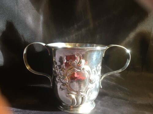 STERLING SILVER PORRINGER CUP LONDON 1756 by William Shaw & William Priest