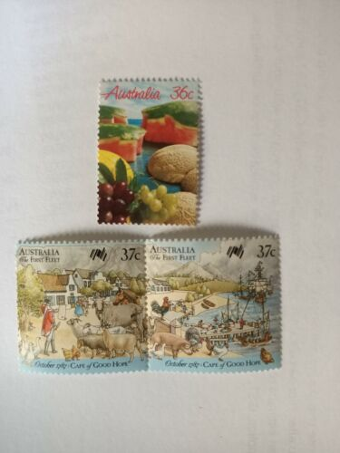 500 Australian MUH $1.10 (3 stamps) Postage Stamp - Full Gum Mint - Face $550