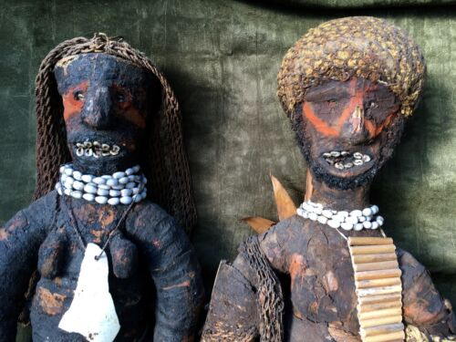 Rare Mendi Tribal Ritual Ancestor Doll effigy- So. Highlands, Papua, New Guinea