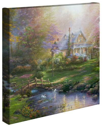 Thomas Kinkade Studios A Mother's Perfect Day 14 x 14 Gallery Wrapped Canvas