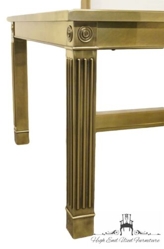 MASTERCRAFT Grand Rapids Brass and Glass 108″ Dining Table