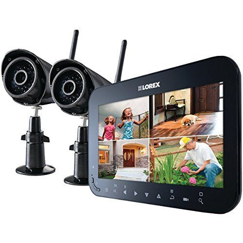 "LOREX LW2742 Wireless 4-Channel Surveillance System with 7"" LCD Screen 2 CAMERAS"