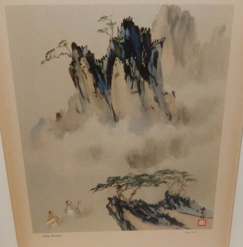 "CHANG SHU CHI ""MISTY MOUNTAIN"" VINTAGE CHINESE PRINT"
