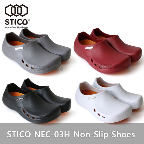 STICO NEC-03H Mens Chef Kitchen Shoes Non-Slip Cook Slipper Indoor Clean