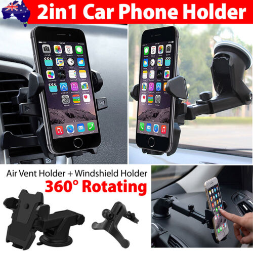 Universal 360° Windshield Mount Car Holder Cradle For GPS Mobile Smart Phone <br/> ✔Special Discount✔Sale From $8.95✔Free AU POST eParcel