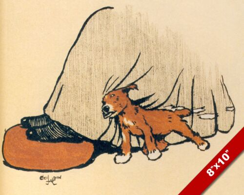 SHOWING LOVE PET PUPPY DOG ANIMAL ART CECIL ALDIN PAINTING PRINT ON REAL CANVAS