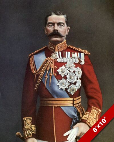BRITISH ARMY LORD KITCHENER WWI WORLD WAR 1 ART PAINTING REAL CANVAS PRINT