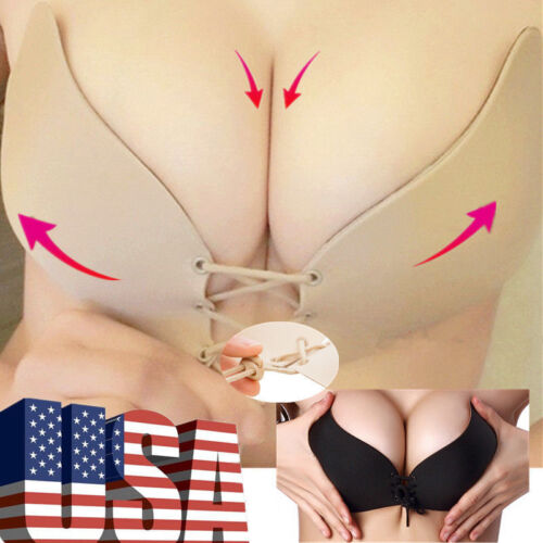 Self-Adhesive Invisible Bra Backless Stick Push-Up Silicone Bra Gel Strapless