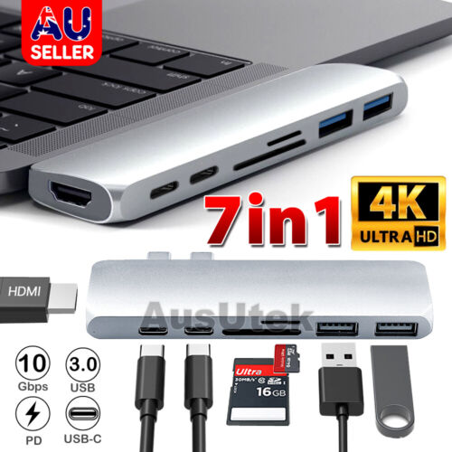 USB 3.1 Type C USB-C to Data USB Combo HUB 4K HDMI VGA Charge Port Adapter Cable