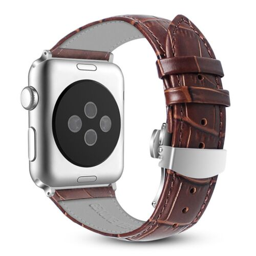 Apple Watch Band 2 Series 1 42mm Genuine Leather Replacement Strap Wrist Bands