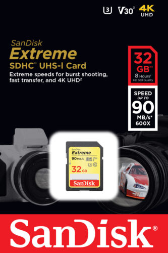 SanDisk Extreme 32GB SDHC 90 MB/S UHS-1 SD Class 10 Memory Card SDSDXVE-032G U3 <br/> USA SELLER-Fast Delivery. New Sealed Retail Pack !!!