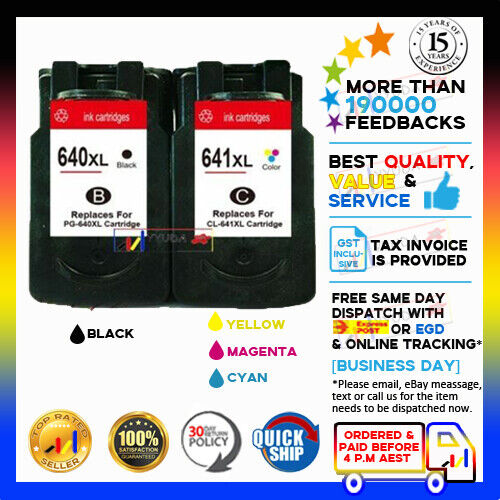 Generic Ink Canon PG-640XL CL-641XL PG640 CL641 For Pixma MG2160 MG2260 MG3160