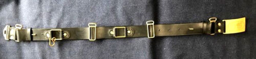 M1872 Cavalry Leather Saber Belt with US Buckle Size LARGE (42-46) Indian WarsReproductions - 156384