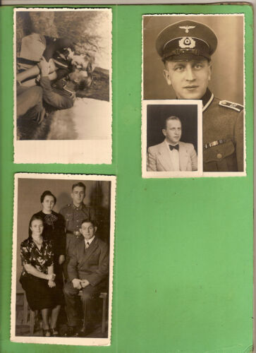 #L. WWII  POSTCARD SIZE PHOTO   OF GERMAN  SOLDIER & FAMILY