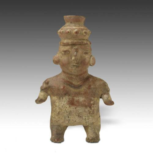 PRE-COLUMBIAN TERRA COTTA FEMALE FIGURE COLIMA WEST MEXICO 100 BC - 300 AD