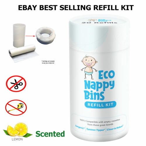 DIY Nappy Bin Refill Kit for Tommee Tippee Sangenic - Refill 10-40 cassettes <br/> 100% Compatible - Biodegradable, Save $, over 2000 sold