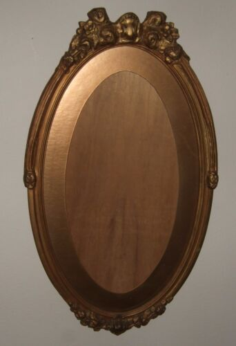 "Antique VICTORIAN Gilded Gold OVAL Gesso PORTRAIT Picture Frame Eastlake 24""x14"""