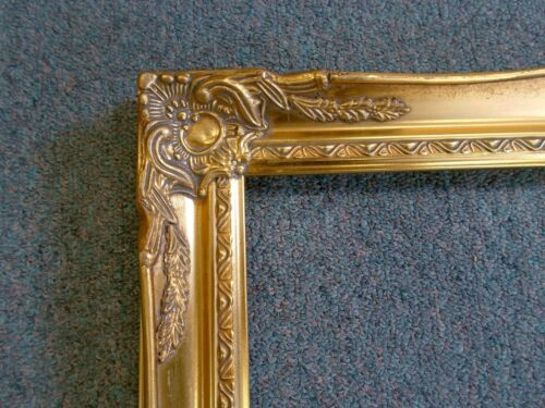 Picture Frame- 8x10 -Vintage Old Gold Antique Ornate Classic- #678G