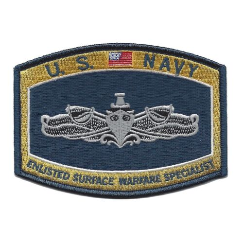 Usn Navy Enlisted Surface Warfare Specialist Badge Patch Sailor Veteran