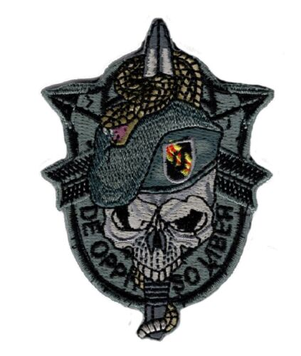 US Army Special Forces Skull Sword and Snake Hook Patch BY MILTACUSAArmy - 48824
