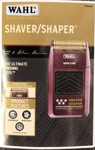 WAHL 5-Star Shaver / Shaper Cord / Cordless Bump Free Shaver Priority Mail Ship!