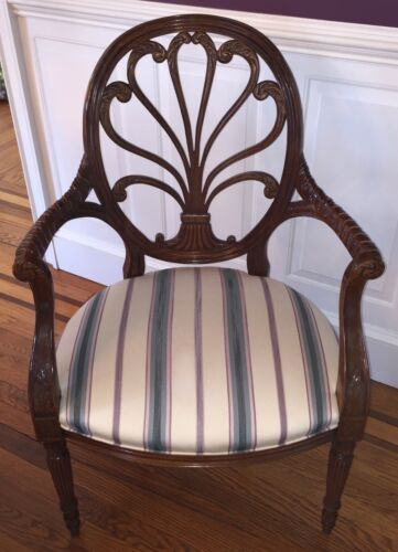 HICKORY CHAIR ANTHEMION FAUTEUIL MAHOGANY ARM CHAIR James River Collection