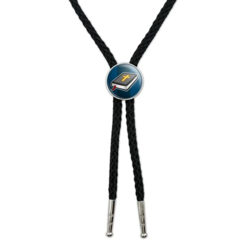 Bible with Cross Christian Religious Western Southwest Bolo Tie