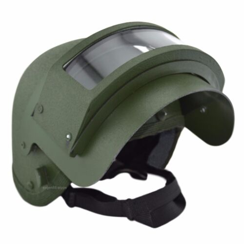 K6-3 Helmet Replica with Steel Vizor Olive For Special Units Russian ArmyHats & Helmets - 36068
