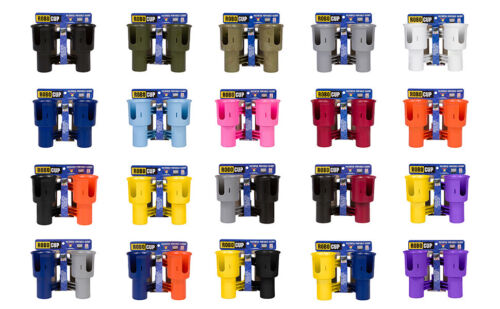 * 2 PACK DEAL * ROBOCUP CLAMP ON DRINK CUP HOLDER CADDY * FREE SHIPPING TO USA *