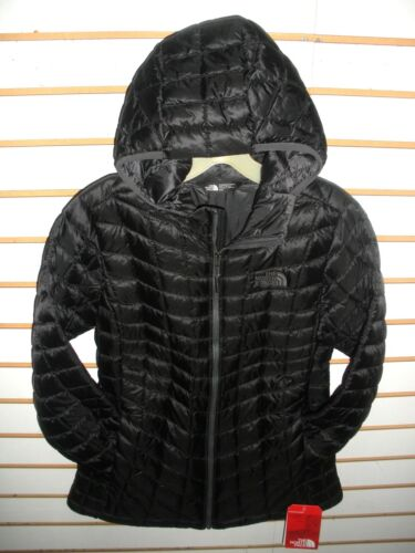 THE NORTH FACE WOMENS THERMOBALL HOODY FULL ZIP JACKET- BLACK-S M,L XL - NEW