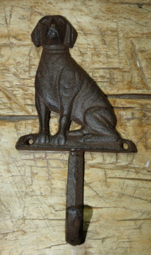 Cast Iron Antique Style DOG Coat Hooks Hat Hook Rack Towel LAB Retriever Puppy