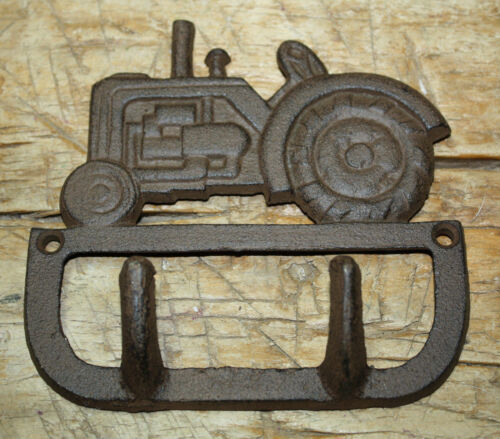 Cast Iron Antique Style TRACTOR Coat Hooks Hat Hook Rack Towel FARM BARN Ranch