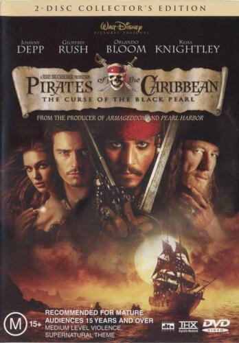 Pirates Of The Caribbean: The Curse Of The Black Pearl 2 Disc DVD 2003 As New