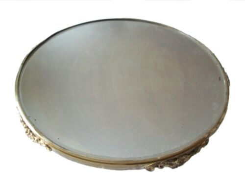 Art Nouveau Mirrored Plateau with Silver Plate Rim - Continental - Circa 1910