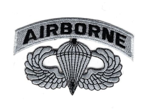 Airborne Jump Wings Paratrooper Embroidered Hook Fastener Patch BY MILTACUSAArmy - 48824