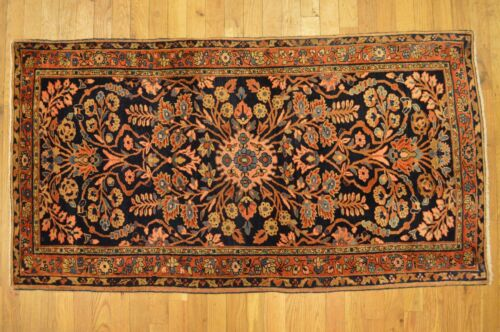 5' x 3' Unique Antique Handmade Mohajeran Sarouk Rug ca.1870 - FREE SHIP