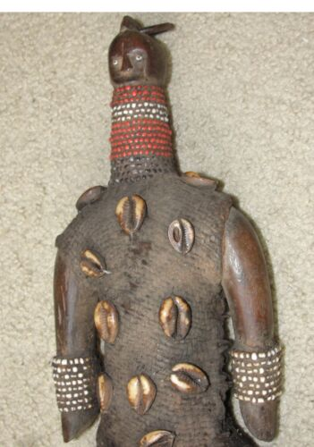 Big Namji Fertility Doll Beaded Shells Old African Tribal Statue Figure Africa