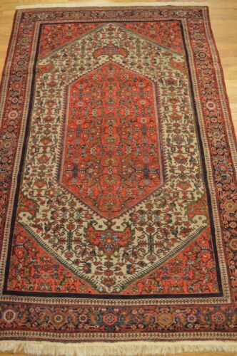 7'x4' Persian Farahan Handmade Woven Genuine Antique Rug (ca.1870) - Mint HUGE!