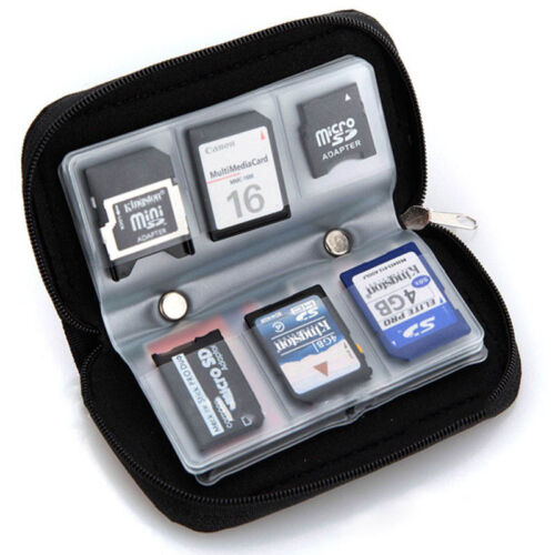 Memory Card Storage Carrying Pouch Case Holder Wallet For CF/SD/SDHC/MS/DS HQ