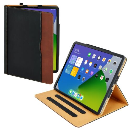 S-Tech iPad Pro 12.9 Soft Leather Case Magnetic Smart Cover Sleep Wake for Apple